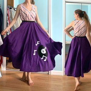 SOLD 50s Sock Hop Swing Circle Skirt